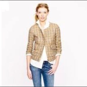 J.Crew Collection Lady Jacket in gilded tweed